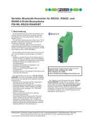 Serieller Bluetooth-Konverter für RS232-, RS422 ... - Phoenix Contact