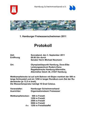 Protokoll - Schwimm-Info für Hamburg