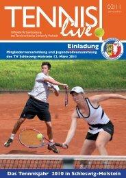 02I11 Einladung - Tennisverband Schleswig-Holstein