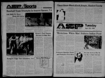Albany Student Press 1982-04-20 - University at Albany Libraries