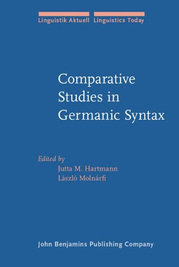 Comparative Studies in Germanic Syntax : from Afrikaans to Zurich ...