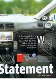 VW Golf IV Variant - Finsterwalder Elektronik, Wedel