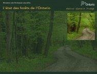 L'état des forêts de l'Ontario (PDF - Ontario.ca