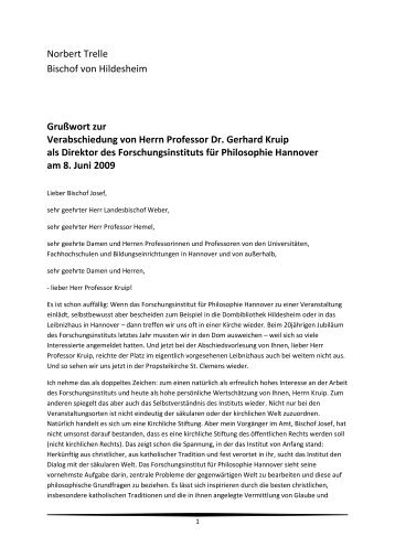 Grußwort zur Verabschiedung von Herrn Professor Dr. Gerhard ...