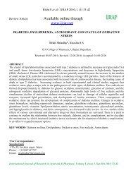 Diabetes, Dyslipidemia, Antioxidant and Status of Oxidative Stress