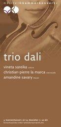 trio dali - Meister & Kammerkonzerte