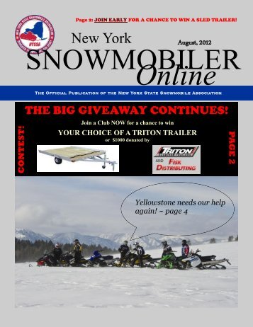 NYSSA Online Magazine - New York State Snowmobile Association