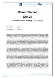Rainer Bischof GRAVE für Violine und Klavier op. 6 - bei Doblinger ...