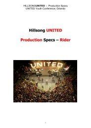 Hillsong UNITED Production Specs – Rider - TannerAbel