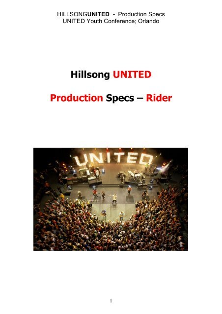 Hillsong UNITED Production Specs – Rider - TannerAbel