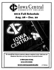 #012 Fall Schedule - Iowa Central Community College