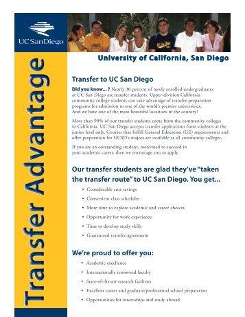Transfer Advantage Brochure - Undergraduate Admissions - UC ...