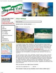 Italy Tours & Hotels - Stay and Visit Italy Orofino Tours & Hotels