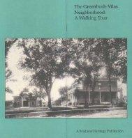 Greenbush-Vilas Neighborhood: A Walking Tour - City of Madison ...