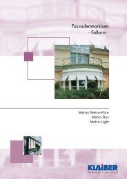 Fassadenmarkisen - Fallarm - - ABC-Markisen