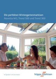Die Wintergartenmarkisen Novetta WG, Trend 500 und ... - M. Gliese