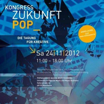 PodiumsdiskussioN uNd WoRkshoP - Popakademie Baden ...