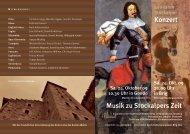 Konzert Musik zu Stockalpers Zeit - Stockalperturm