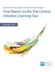 Final Report on the 21st-Century Initiative Listening Tour - American ...