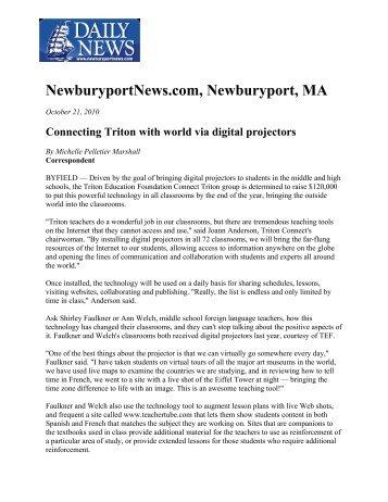 NewburyportNews.com, Newburyport, MA - Triton Education ...