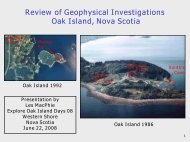Geophysical Investigations - Oak Island Treasure