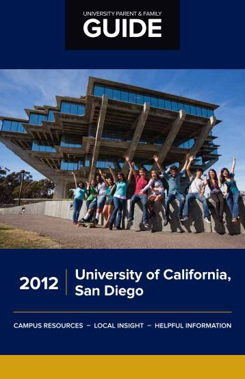 University of California San Diego 2012 - University Parent