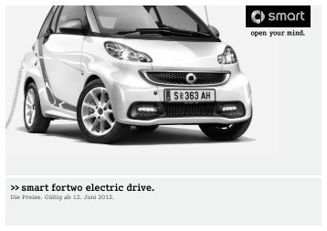 Preisliste smart fortwo electric drive - Daimler