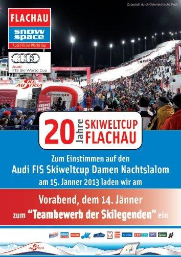 """Vorabend, dem 14. Jänner zum """"Teambewerb der Skilegenden""""ein"""