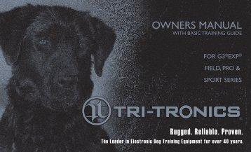 Tri-Tronics® Owners Guide Sport, Field & Pro