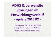 20.b ADHS & Verwandte Störungen im Entwicklungsverlauf