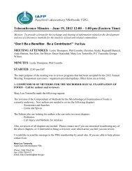 June 19, 2012 - International Association for Food Protection