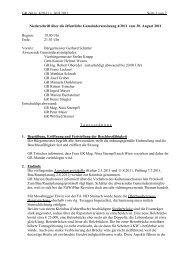 Link zum Protokoll - Gemeinde Haus