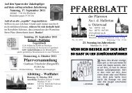 Pfarrblatt 32-2011 - Grüß Gott in Au id Hallertau