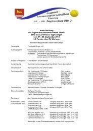 Ausschreibung der Jugend-Kreismeisterschaften ... - Tennis-web.net