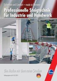 Professionelle Steigtechnik für Industrie und Handwerk - PresseBox