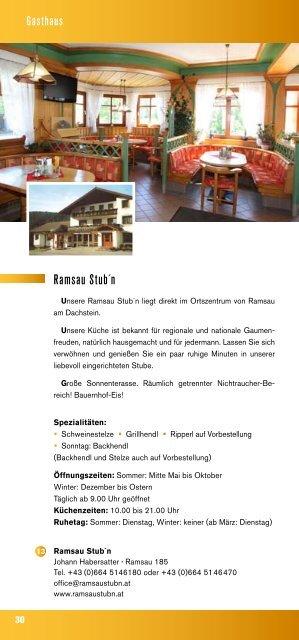 Kulinarium - Ramsau am Dachstein