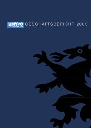 GESCHÄFTSBERICHT 2003 - HYPO Steiermark
