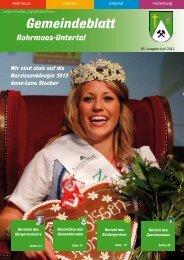 Ausgabe 2/2012 - Gemeinde Rohrmoos-Untertal