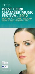 west cork chamber music festival 2012 bantry, co ... - West Cork Music