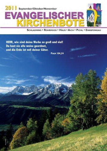 Ausgabe 3/2011 - Evangelische Pfarrgemeinde Schladming