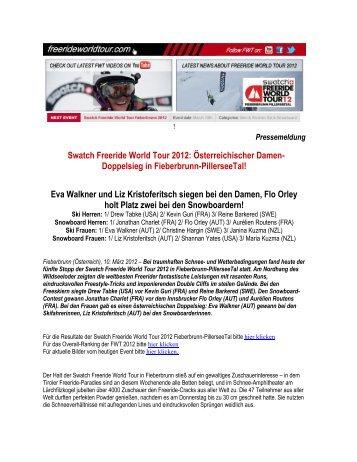 Swatch Freeride World Tour 2012: Österreichischer Damen ...
