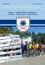 Laufen – Nordic-Walking – Radfahren Triathlon ... - Ski-Club Lauf eV