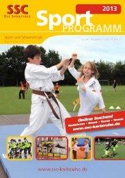 Sportprogramm 2013 (0,9 MB) - Sport und Schwimmclub Karlsruhe eV
