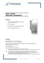 K924 / GR-KK Gasrechner Koppelkarte - FTL Tritschler Elektronik+ ...