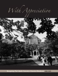 With Appreciation - Give to CUA
