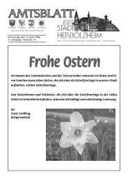 nzeigen - Stadt Herbolzheim