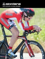 2012 CUSTOM CYCLING APPAREL - Gita Sporting Goods, Ltd.