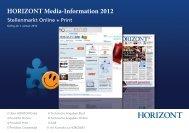 HORIZONT Media-Information 2012 - HORIZONTJobs.de