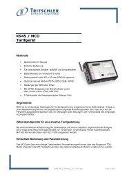 K945 / MCO Tarifgerät - FTL Tritschler Elektronik+Feingerätebau