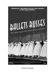 Ballets Russes Press Kit - Zeitgeist Films.